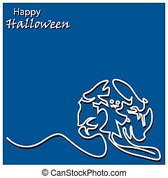 Halloween background. vector illustrator