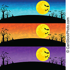 Halloween Background vector set
