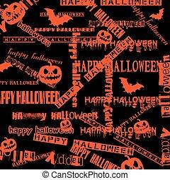 Halloween background with bats and pumpkin. vector...