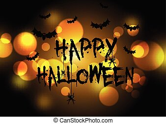 halloween background with bokeh lights design 1908