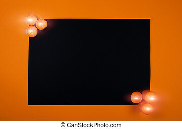 Halloween background with candles.