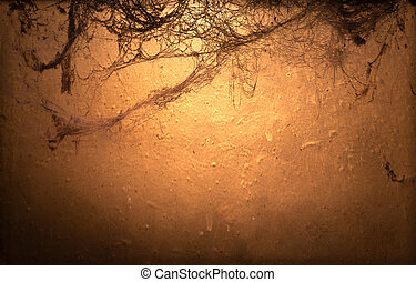 Halloween background with cobweb