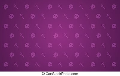 Halloween background with element collection