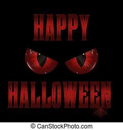 halloween background with evil eyes design 0409
