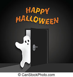 Halloween background with funny