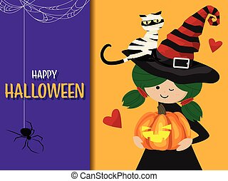 Halloween background with Happy Halloween text.