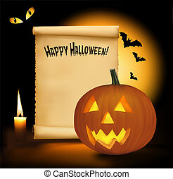 Halloween background with old paper
