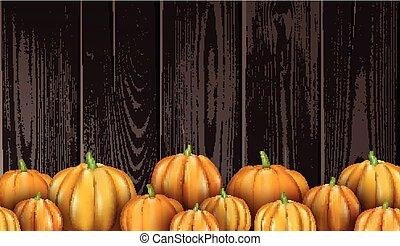 Halloween background with orange 3d pumpkins.