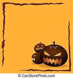 Halloween Background With Pumkins