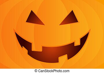 Halloween Background with Pumpkin Happy Face.