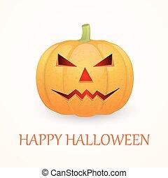 Halloween background with pumpkin.