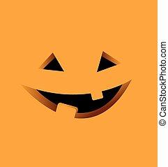 Halloween Background with Pumpkin Vector Illustration