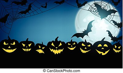 grungy halloween background with pumpkins and bats grungy halloween
