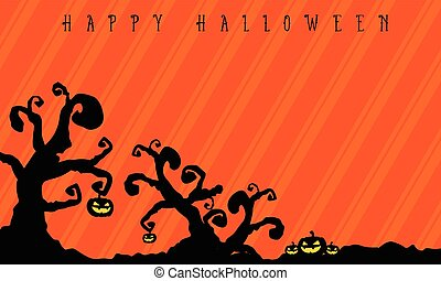 Halloween background with tree style