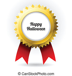 Halloween badge with special design