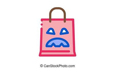 halloween bag Icon Animation. color halloween bag animated icon on white background