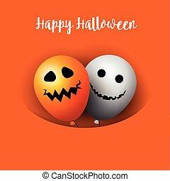 halloween balloons background 0910