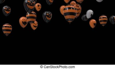 halloween balloons transition with alpha channel