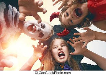 halloween, bambini