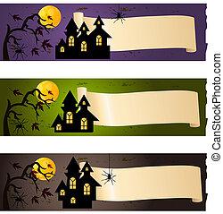 halloween, banderas