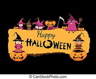 halloween, bandiera, felice