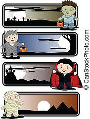 halloween, bandiere