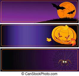 halloween, baner