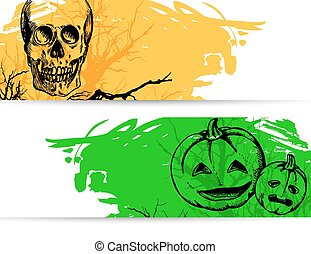 halloween, baner, horisontal