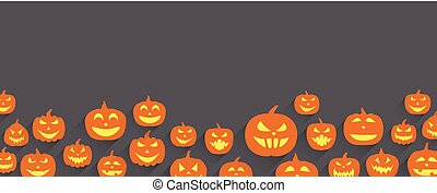 Halloween banner with pumpkin. Drawing art of happy... clipart ...