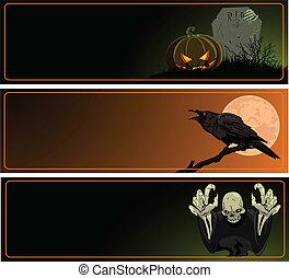 halloween, bannières
