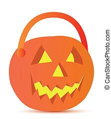 halloween basket illustration