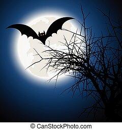 Stock Illustration of Bat Halloween background - Dark ...