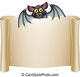 Halloween Bat Banner