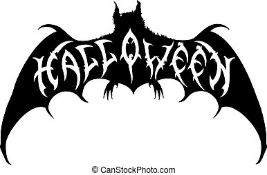Halloween bat emblem.eps
