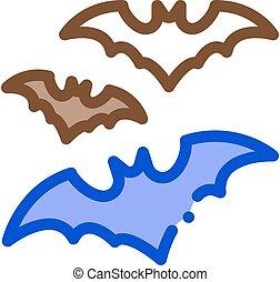 halloween bat icon vector outline illustration