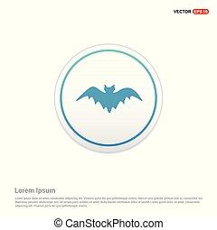 Halloween Bat icon - white circle button