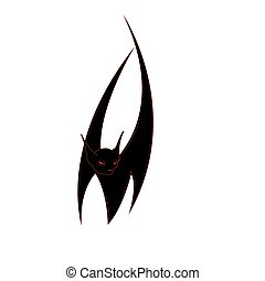 bat - Halloween bat  isolated on a white background.