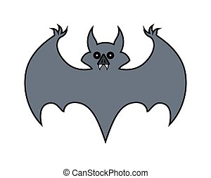 Halloween Bat Shape Vector