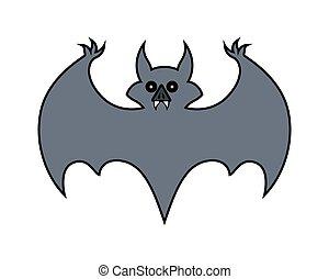 Halloween Bat Shape Vector