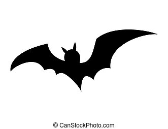 halloween bat silhouette vector  design isolated on white background