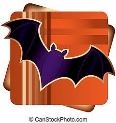 Halloween Bat - Stylized illustration of a halloween bat.
