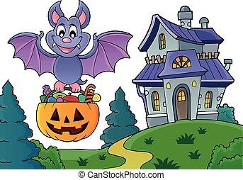 Halloween bat theme image 5