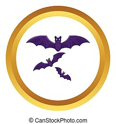 Halloween bats vector icon