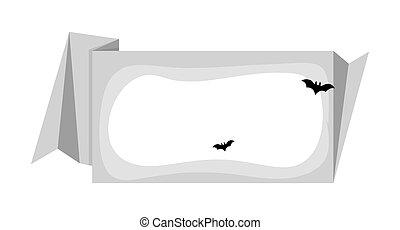 Halloween Bats Vintage Paper Banner