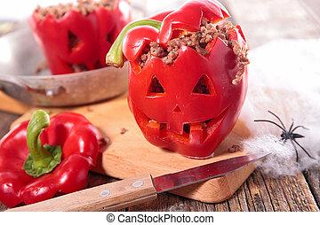 halloween bell pepper