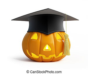 halloween, berretto laurea