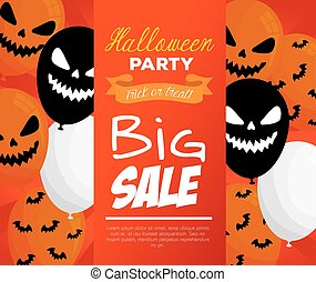 halloween big sale with scary balloons helium decoration