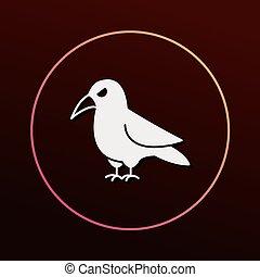 halloween bird icon