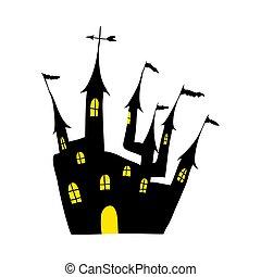 Halloween black castle