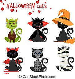 Halloween black cat fashion costume outfits